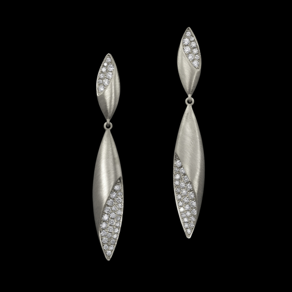 Dune Earrings white gold