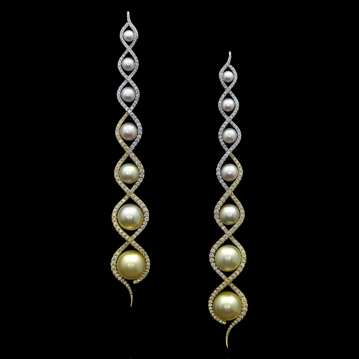 South Sea Pearl Diamond Earrings Rivoli