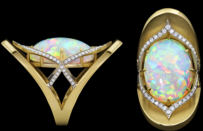 Ocellius Ring with Ethiopian Opal
