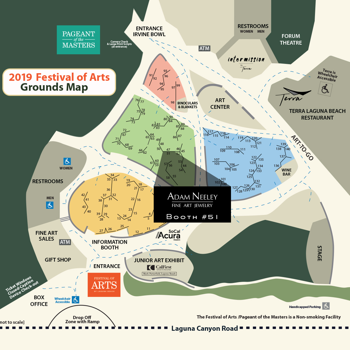 2019 Festival of Arts Map