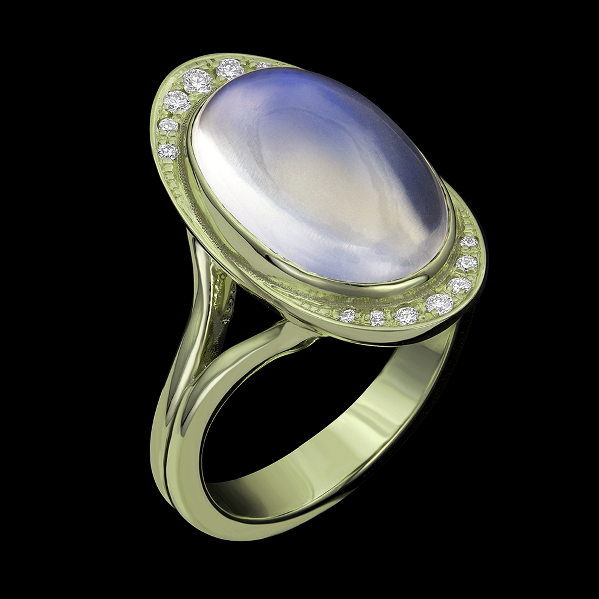Tulip Moonstone Ring VeraGold