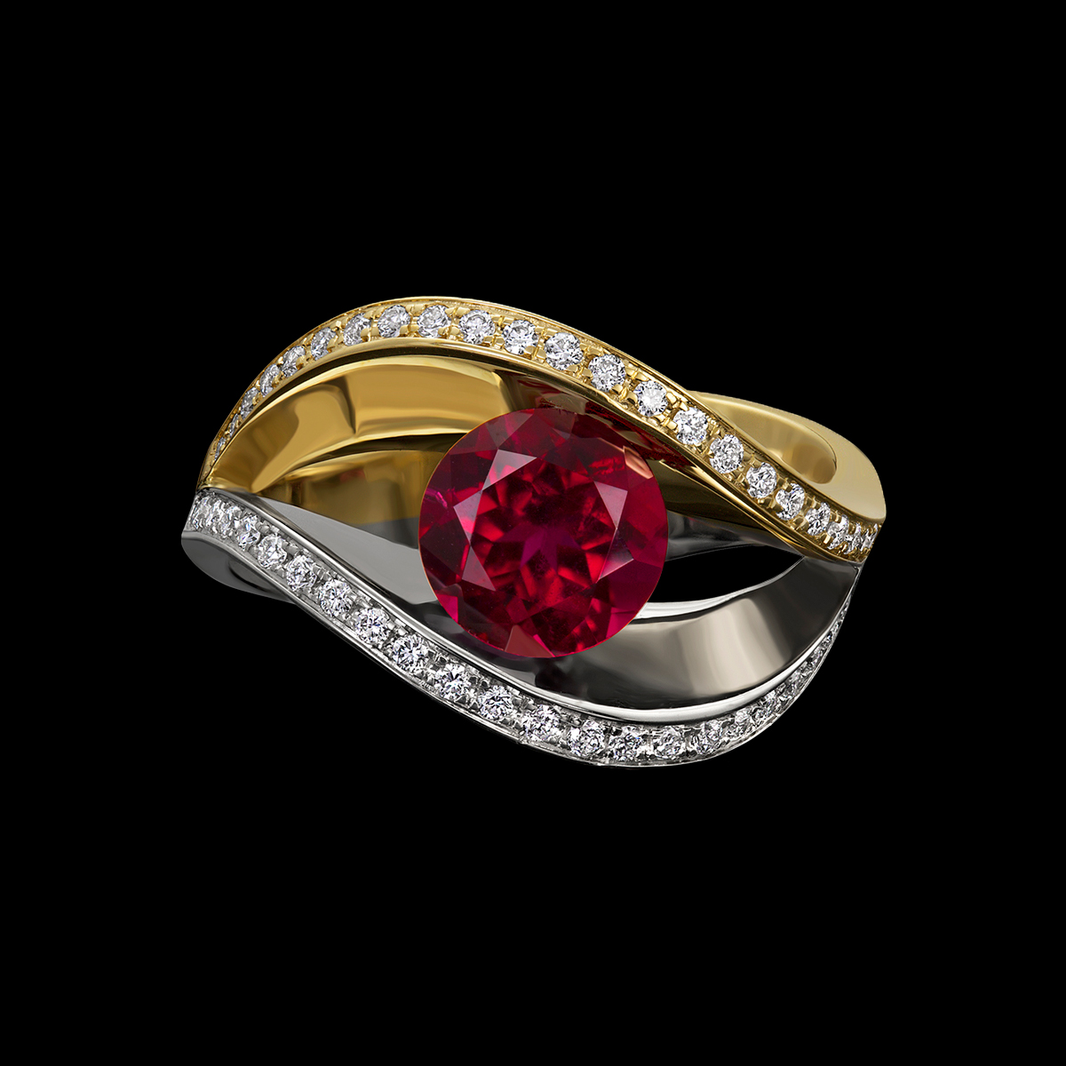 covet duo rubellite tourmaline ring