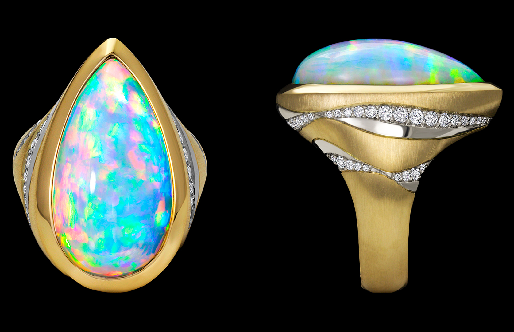 Vesta Ring with Ethiopian Opal