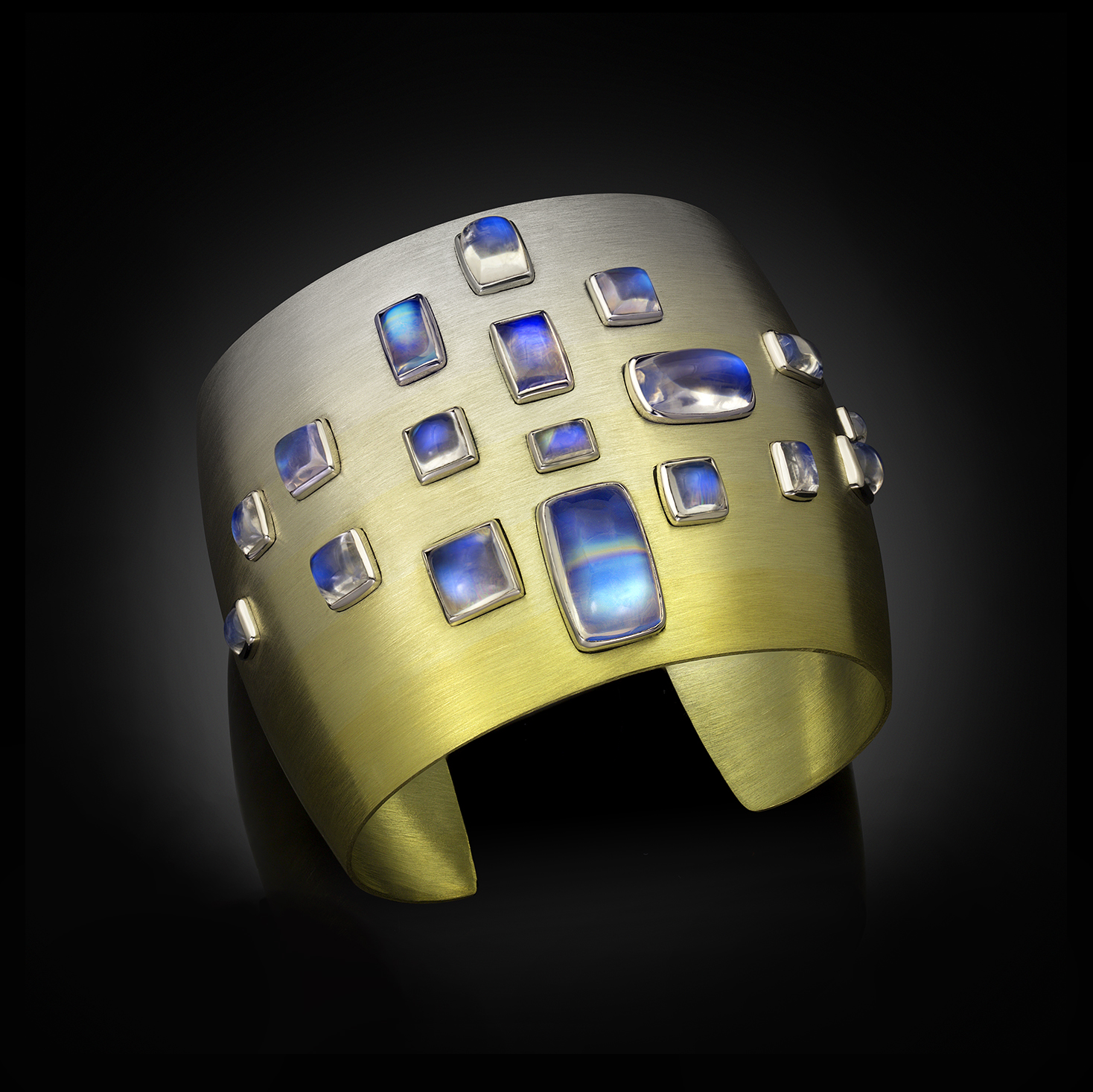 Moonstone SpectraGold™ Cuff Moonglow