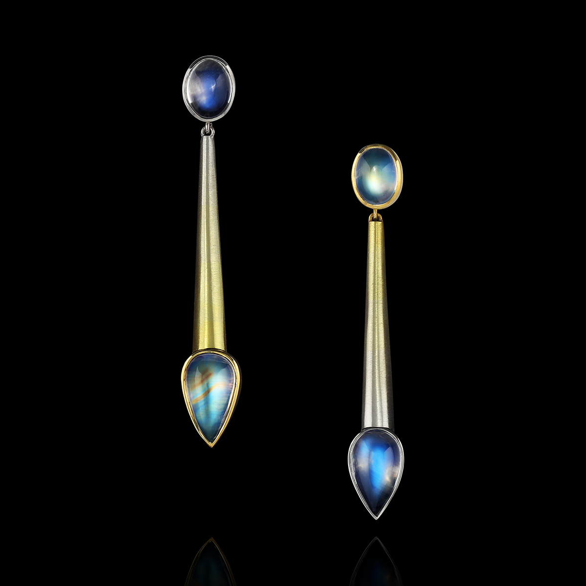 Rainbow Moonstone & SpectraGold™ Earrings | Solstice