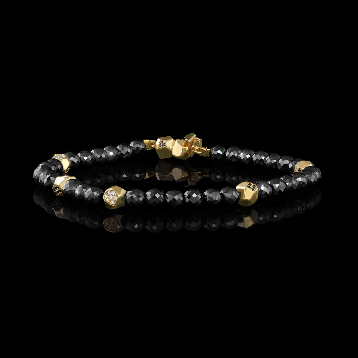 Black Diamond, White Diamond & Gold Bracelet | Baccara