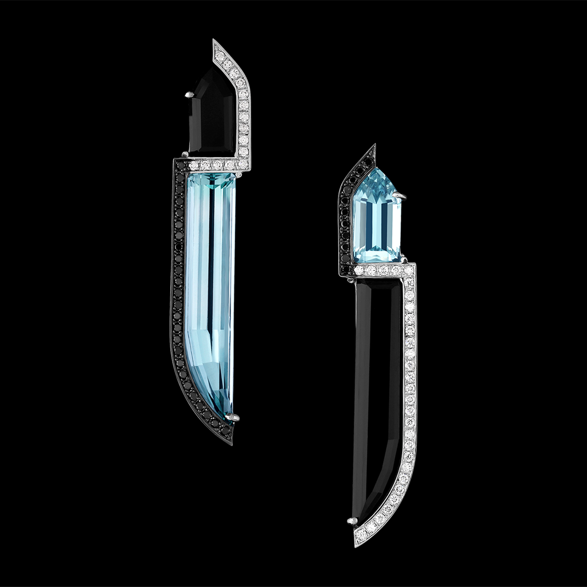 Aquamarine, Tourmaline & Diamond Earrings | Belvedere