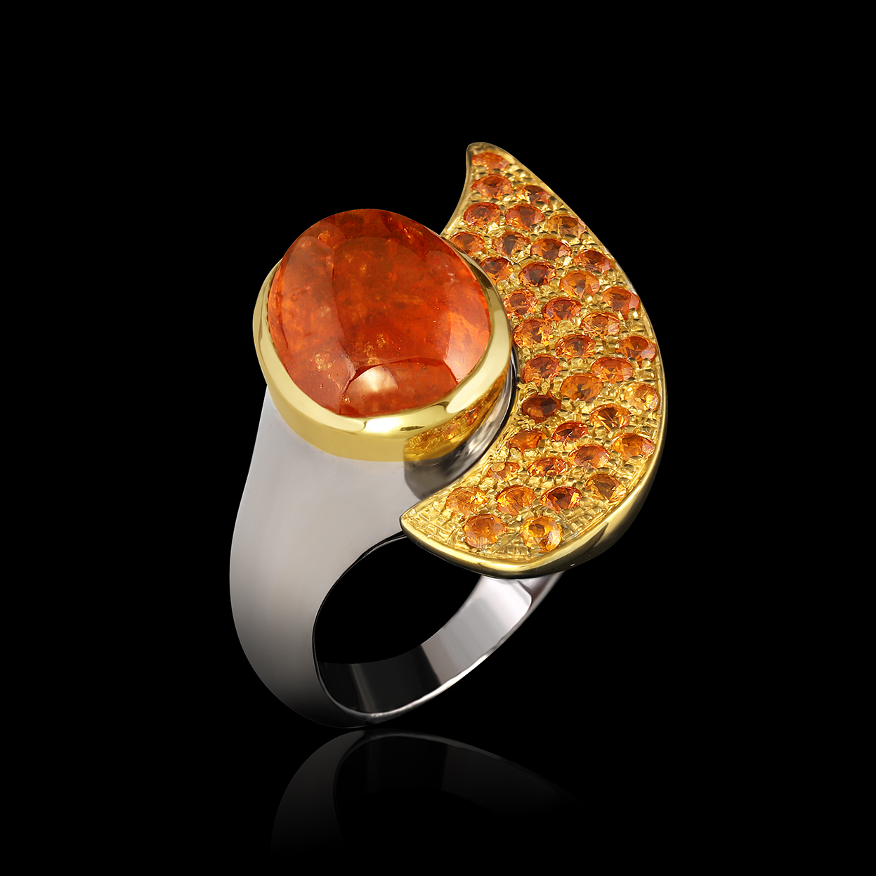Garnet & Gold Ring | Honey